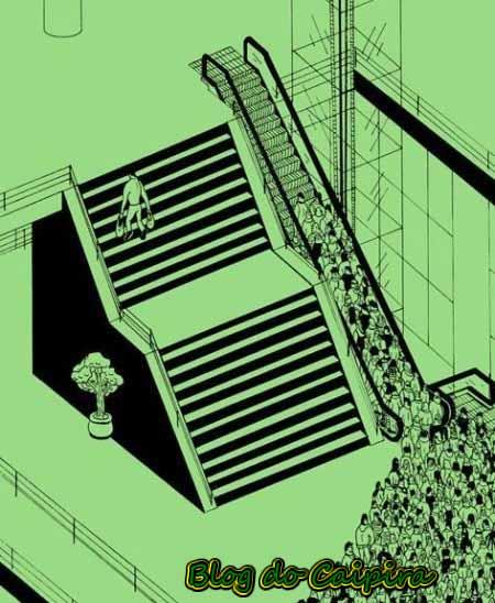 preguiça subir escada