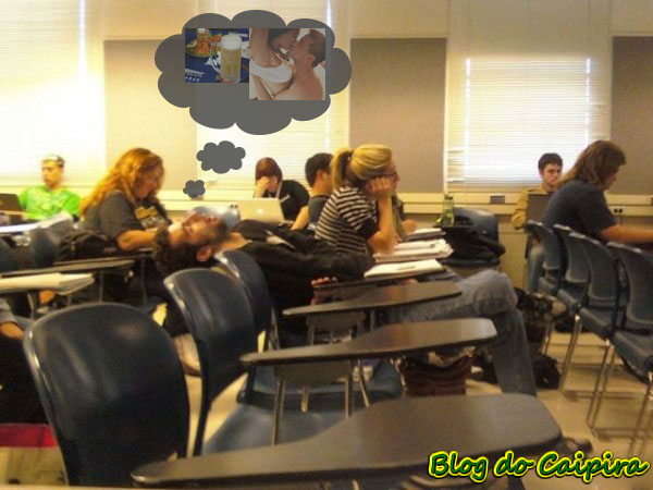 sonhando na aula
