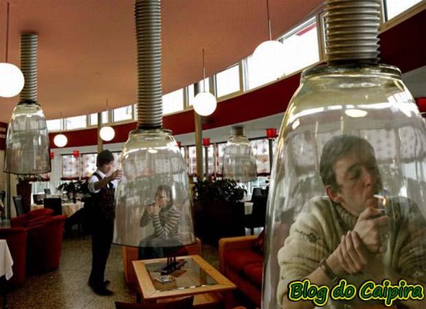 fumar em local fechado
