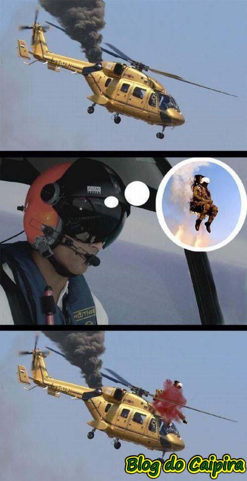 helicóptero caindo