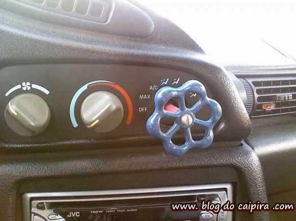 botão do  ar-condicionado