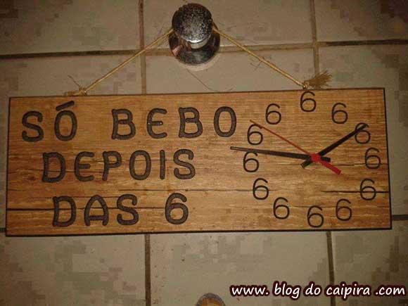 relógio de bêbado